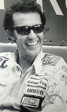 Richard Petty firmado 12x8 Nascar legendario Driver 1960s B&W Retrato