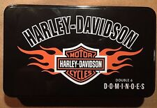 Harley Davidson Double Six  Dominoes w/ Tin Case and Free Shipping