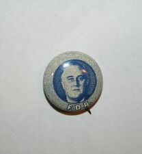 Franklin Roosevelt FDR President Campaign Button Political Pinback Pin