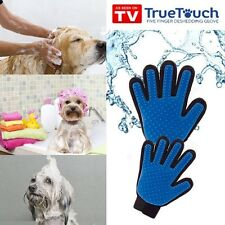 True Touch Deshedding Glove Gentl Efficient Pet Grooming Clean Dog Hair Brush %