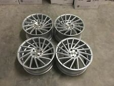 "19"" STROM DS15 Wheels Silver Machined - VW Golf MK5 6 7 Seat Leon Audi A3 A4 A6"