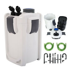 3-Stage External Aquarium Canister Filter 265GPH 75Gal Built-in 9W UV Pump
