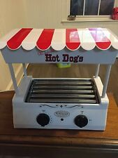 HOT DOG ROLLER GRILL ~ SAUSAGE COOKER MACHINE WITH BUN WARMER ~ HDR-565