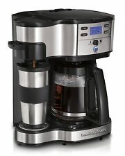 Hamilton Beach Single Serve Coffee Brewer and Full Pot Coffee Maker 2-Way, NEW