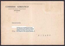 GIORNALE CORRIERE ADRIATICO - ANCONA - FASCISMO Cartolina viaggiata 1942