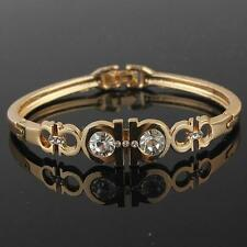NEW LADY 14K YELLOW GOLD SOLID GP FILLED WITH BRASS LOTS CZ STONE BRACELET