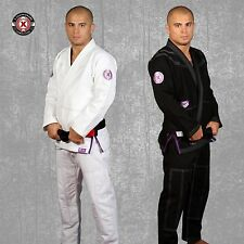 *2 KIMONOS* X-Guard Jiu Jitsu Gi BJJ Series 7 White Black Purple A1 A2 A3 or A4