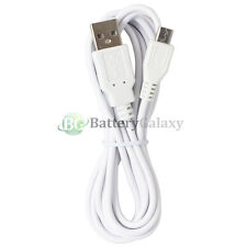 6FT White Micro USB Charger Data Cable for Samsung Galaxy S6/Edge/Core Prime