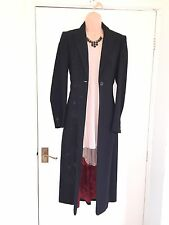 KAREN MILLEN black embroidered/side collared vintage long blazer/jacket size 8