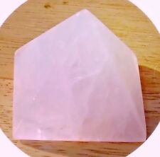 Reiki Energy Charged Rose Quartz Pyramid Crystal Heart Chakra Unconditional Love