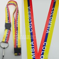 Colombia Flag Clip On Keychain Lanyard