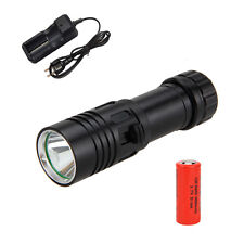 Rechargeable Scuba Diving 5000LM CREE XM-L U2 LED Flashlight Torch Lamp 26650+CH