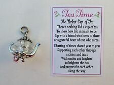 f Clear Tea Time perfect cup of Teapot Pendant Charm Friendship Ganz
