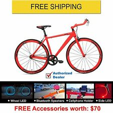 New Rapid Evolve Bullhorn Bars Fixed Gear(Fixie)Bike-Red, Warranty,Free Shipping