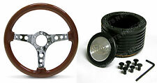 DATSUN 180B , 200B   SAAS WOOD GRAN STEERING WHEEL AND BOSS Kit COMBO