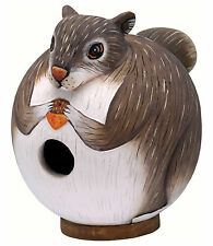 BIRD HOUSES - SQUIRREL BIRDHOUSE - SQUIRREL BIRD HOUSE - GARDEN - OUTDOOR DECOR