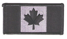 "Canada flag 3.5"" x 1.75""  subdued black/silver police SWAT biker patch"