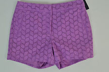 TOMMY HILFIGER NWT WOMENS MILK THISTLE PURPLE LACE SHORTS SIZE: 8 MSRP $69.50