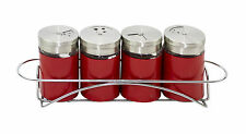 4Pcs Salt & Pepper Shaker Set Seasoning Spices Holder Dispenser Pots Condiment