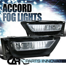 For 2013-2015 Honda Accord 4Dr Clear Fog Lights Bumper Driving Lamps+Switch