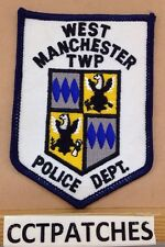 WEST MANCHESTER TOWNSHIP, PENNSYLVANIA POLICE SHOULDER PATCH PA