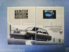 QUATTROR982-PUBBLICITA'/ADVERTISING-1982- LANCIA TREVI VOLUMEX -2 fogli