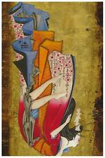 Falling Geisha by Susana Alonso Tattoo Fine Art Print Traditional Japanese Woman