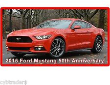 2015 Red Ford Mustang 50th Anniversary Auto Refrigerator / Tool Box Magnet