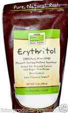 NEW NOW FOODS REAL FOOD ERYTHRITOL SWEETENER GREAT FOR REDUCED CALORIE 1 lb 454g
