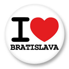 "Pin Button Badge Ø25mm 1"" I Love Heart Coeur J'aime Bratislava Slovaquie"