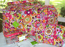Vera Bradley~DISNEY~BOUNCING BOUQUET~Large DUFFEL~COSMETIC~Clementine~MICKEY~LOT