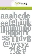 Craft Emotions Cutting & Embossing Dies  LOWERCASE ALPHABET 0502