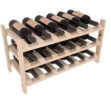 18 Bottle Stacking Wood Wine Rack Shelf in Ponderosa Pine. Easy DIY Wine Storage