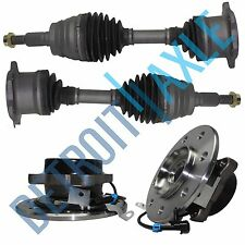 2 New Wheel Hub Assemblies + 2 Front Driver/Passenger CV Axle Shafts - 4WD 8 Lug