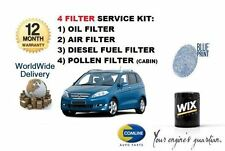 FOR HONDA FRV 2.2 CDTi 6/2005-   SERVICE KIT OIL AIR FUEL POLLEN FILTER ( 4) KIT