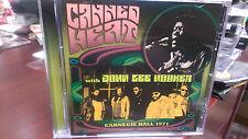 CANNED HEAT with John Lee Hooker Carnegie Hall 1971 CD Framned Back Door Man