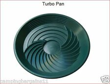 "TurboPan Green 10"" Plastic Gold Pan Sluice Panning Prospecting Metal Detector"