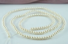 *185pcs Pearl Beads 4mm Light Cream Color Faux Imitation Plastic Round Spacer *
