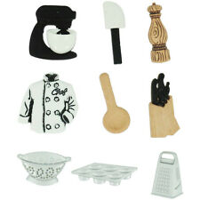 "Dress it Up ""Master Chef"" Buttons Chef Jacket Grater Cupcake Pan Mixer"