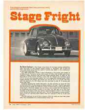 1970 VW / VOLKSWAGEN BEETLE WITH CHEVY 396  ~  GREAT TWO-PAGE ARTICLE / AD