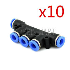 10 x  PK6 Pneumatic Air Flow Manifold Quick Fittings Connector for 6mm Tube Hose