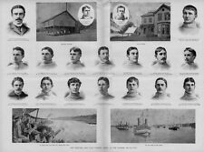 HARVARD AND YALE COLLEGE VARSITY ROWING BOAT RACE NEW LONDON OBSERVATION TRAIN