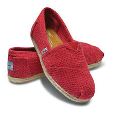 TOMS Freetown Classic Slip On Espadrille Flat Shoes, Fuchsia, Women Size 10