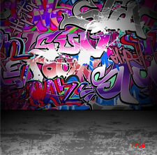 Graffiti Vinyl Photography Background Backdrop Studio Props Retro 8X8FT TY56