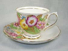 Royal Albert Bone China Multicolor Floral Cup & Saucer Set #2539