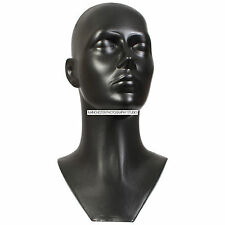 Black Hard Plastic Mannequin Display Head Dummy Ideal For Hats Wigs Glasses