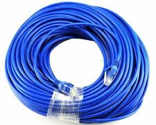 50FT Cat5e Blue Ethernet Network Patch Cable RJ45 Lan Wire 50 Feet