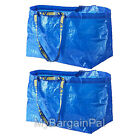 LOT OF 2 IKEA NEW LARGE REUSABLE SHOPPING BAG - LAUNDRY TOTE - GROCERY  FRAKTA