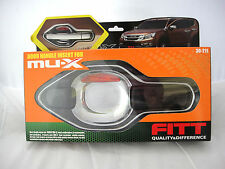 FITT CHROME+BLACK 4 DOOR HANDLE BOWL COVER TRIM FOR ISUZU MU-X 2014 SUV