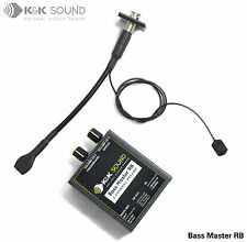 K&K Bass Master RB Plus para Rockabilly transductores, Preamplificador de bajo, Cable Estéreo